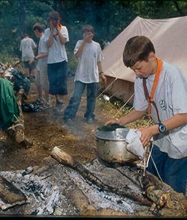La cuisine au camp