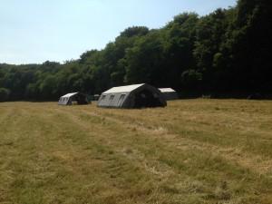 Les tentes des louveteaux